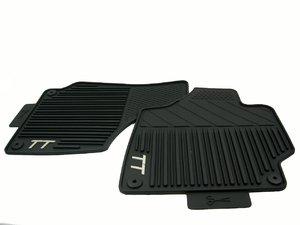 ES#10873 - 8J1061520041 - front Rubber Floor Mats - Black - Protect your carpet from moisture and debris - Genuine Volkswagen Audi - Audi
