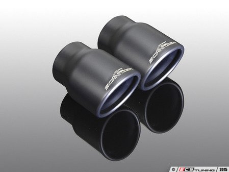 "ES#3131764 - 18142563109 - Exhaust Tip Dual ""Sport"" - Matte Black - Mounts to the stock exhuast - AC Schnitzer - MINI"