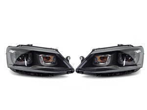 """ES#2857668 - HVWJ6HL-L7 - Projector Headlight Set - MK7 Style - Features white LED DRLs for the inner and outer """"U's"""", and a high/low beam projector - Helix - Volkswagen"""