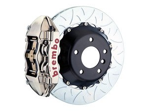ES#3142575 - 1P3.8005AR - Front Brembo GT-R Front Big Brake Kit Type 3 - 2 Piece Multi Slotted Rotors (345x28) - Featuring Machined Billet Monobloc 4 piston calipers, stainless brake lines and Brembo High Performance brake pads - Brembo - MINI