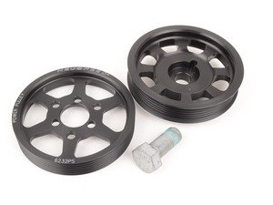 ES#2826022 - 62.10.32 - Lightweight Underdrive Pulley Set - Includes a new power steering and crank pulley that allows you to use a stock belt - Neuspeed - Volkswagen