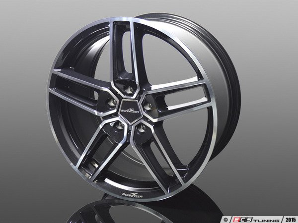 "ES#3132759 - 36112104508 - Type VIII BiColor Black Wheel 20"" ( 5x120 ) - Priced Each - 20""x8.5"" 5x120 ET43 - AC Schnitzer - BMW MINI"