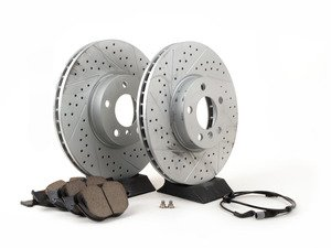 ES#3139044 - 342167932471KT4 - Performance Front Brake Service Kit - The perfect package for every driver focused on performance without sacrificing wheel cleanliness - Assembled By ECS - BMW