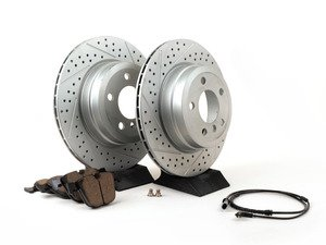 ES#3139045 - 342167932471KT5 - Performance Rear Brake Service Kit - The perfect package for every driver focused on performance without sacrificing wheel cleanliness - Assembled By ECS - BMW