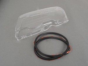 ES#3141562 - 63128382191kit - Headlight Lens With Gasket - Left  - Replacement headlight lens with seal - URO - BMW