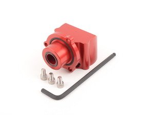 ES#3022063 - PWH1920 - Pwrhaus Diverter Valve Spacer - Anodized red billet aluminum diverter valve spacer - Pwrhaus - Audi Volkswagen