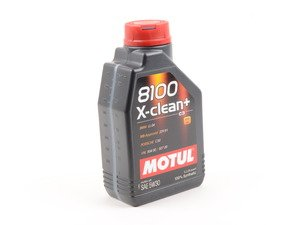 ES#2952275 - 3374650234816 - 8100 X-Clean+ Engine Oil (5w-30) - 1 Liter - 100% synthetic engine oil specially designed around the demands of direct injection engines - Motul - Audi Volkswagen