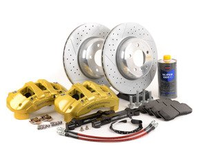 ES#2598719 - 000249ECS01KT - ECS 6-Piston Front Big Brake Kit (338x26)  - Give your BMW incredible stopping power! - Assembled By ECS - BMW