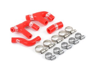 ES#3130097 - 010377ECS01-02 -  Silicone Vacuum Hose Kit - Red - Sleek, heavy duty silicone vacuum hoses to eliminate cracked lines or to dress up any 1.8T engine bay! - ECS - Volkswagen