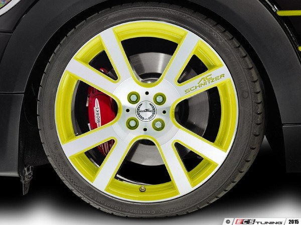 "ES#3137515 - 361150400KT6 - AC Schnitzer Mi2 Wheel 18"" Lemon Yellow ( 4x100 ) - Set Of Four - 18""x7.5"" 4x100 ET50 in Special Lemon Yellow with 4 Adapter kits. - AC Schnitzer - MINI"