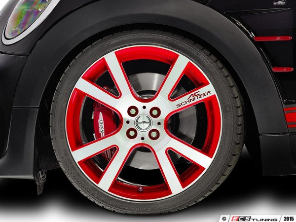 "ES#3137582 - 361150400KT7 - AC Schnitzer Mi2 Wheel 18"" Chili Red ( 4x100 ) - Set Of Four - 18""x7.5"" 4x100 ET50 in Special Chili Red with 4 Adapter kits. - AC Schnitzer - MINI"