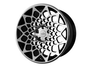 "ES#3438351 - b121910511242KT3 - 19"" R8B12 Wheels - Set Of Four - 19""x10"", 5x112, et42 - Gloss Black / Machined Face - Radi8 - Audi"