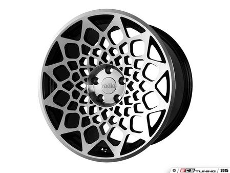 "ES#3146191 - r8b12BMF95KT - 18"" R8B12 - Set of Four  - 18""x9.5"" ET42 5x112 - Gloss Black/Machined Face - Radi8 - Audi Volkswagen"