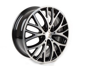 "ES#2986348 - 36116855102 - 506 MINI JCW BBK Cross Spoke Wheel 18"" (5x112) - Black Gloss Turned - Priced Each - 7J X 18 ET:54 - Genuine MINI - MINI"