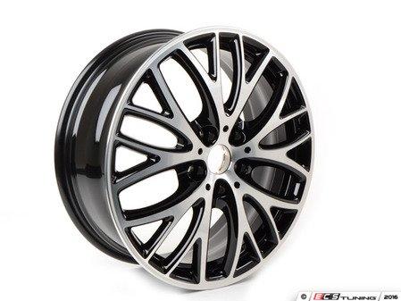 "ES#2986348 - 36116855102 - 506 MINI JCW BBK Cross Spoke Wheel 18"" (5x112) - Black Gloss Turned - Priced Each - 7J X 18 ET:54 - Genuine MINI - MINI"