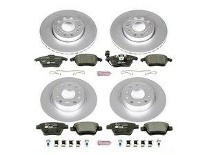 ES#3145612 - ESK5747 - Euro-Stop Brake Kit - Front & Rear (288x25/272x10) - A quality braking kit to restore braking performance - Power Stop - Volkswagen