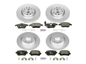 ES#3145619 - ESK5798 - Euro-Stop Brake Kit - Front & Rear (312x25/282x12) - A quality braking kit to restore braking performance - Power Stop - Volkswagen