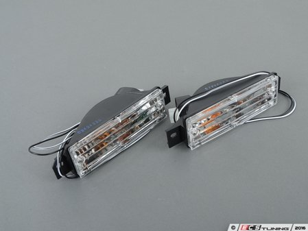 ES#2808014 - 3441602PXAEVC - clear Turn Signal / Parking Lamp - Set - Ditch those dull or broken ambers! - Depo - BMW