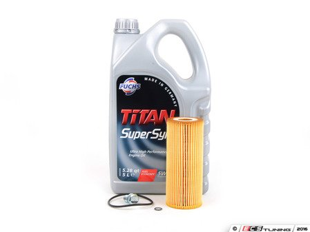ES#3144627 - 074115562ZKT -  Oil Service Kit - Includes Mann oil filter and Fuchs 5w-40 oil - Assembled By ECS - Volkswagen