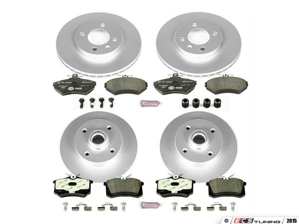 ES#3145458 - ESK375 - Euro-Stop Brake Kit - Front & Rear (256x20/226x10) - A quality braking kit to restore braking performance - Power Stop - Volkswagen