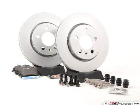 ES#2765735 - 8N0615601BKT9 - Rear Brake Service Kit - Featuring Meyle rotors and Mintex Red Box pads - Assembled By ECS - Volkswagen