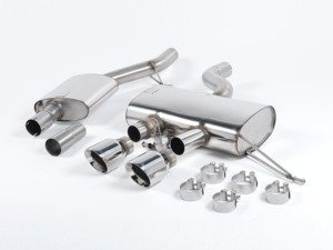 "ES#2828177 - SSXVW163 - 2.75"" Cat-Back Exhaust System - Resonated - Get that Exhaust tone you've been looking for! Features 2.75"" construction with 4"" Polished ""GT100"" style tips. - Milltek Sport - Volkswagen"