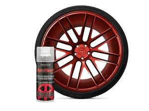 ES#3146957 - DPA-RealRed -  Real Red DipPearl - 11oz. Can - Perfect for Wheels, Trim, Emblems and Small Surfaces - DipYourCar - Audi BMW Volkswagen Mercedes Benz MINI Porsche