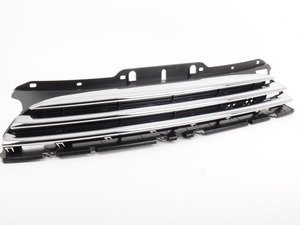 ES#2228675 - 51117317264 - Front Grille Center - Chrome - Mounts to the front of the hood - Genuine MINI - MINI