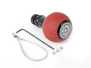 ES#3141680 - GS2SM - BFI Heavy Weight Shift Knob SCHWARZ - Magma Red Air Leather - Weighing in at approximately 215 grams the added inertial mass makes shifting effort substantially less while speeding up the process at the same time. - Black Forest Industries - Audi Volkswagen