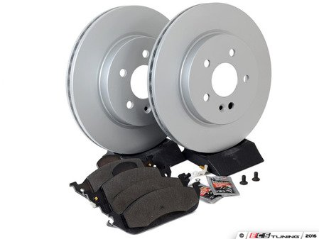 ES#2762547 - 1634201220KT2 - Front Brake Service Kit - Featuring Meyle Rotors And Pads - Assembled By ECS - Mercedes Benz