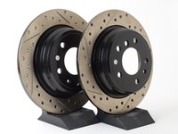 ES#3033114 - 34211156668CDS - Cross-Drilled & Slotted Brake Rotors - Rear - This design removes performance robbing outgas and material dust caused by braking - StopTech - BMW