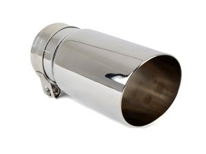 "ES#3508469 - EX-91-51CPL - 3.0"" Clamp On Exhaust Tip - Polished - Stainless Steel exhaust tip featuring clamp on attachment. 2.5"" Inlet / 3"" Single Wall, Slant Cut Outlet - 42 Draft Designs - Audi BMW Volkswagen"