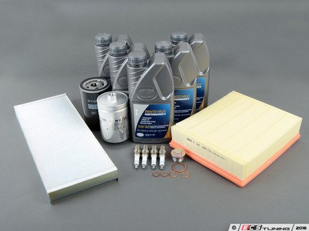 ES#3251 - B5AEBQUA40KSKLDP -  40k Service Kit - Standard Size Oil Filter - Everything you need to perform the recommended 40k mile service - Assembled By ECS - Audi