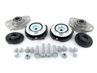 ES#2986414 - 1K0513353HKT1 - Cup Kit/Coilover Installation Kit - Includes shock/strut mounts, bearings, spring pads, and hardware - Assembled By ECS - Audi