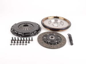 ES#3021847 - BFI20F240ST1 - BFI Stage 1 Clutch Kit - Forged Steel Flywheel (18.85lbs) - Includes a lightweight 4140 forged steel flywheel, performance pressure plate and full faced steel back clutch disk. Rated for 290wtq. - Black Forest Industries - Volkswagen