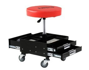 ES#3147698 - C3100 - Pneumatic Chair With Drawers - Always have your tools handy with this padded stool with drawers - Omega Tool - Audi BMW Volkswagen Mercedes Benz MINI Porsche