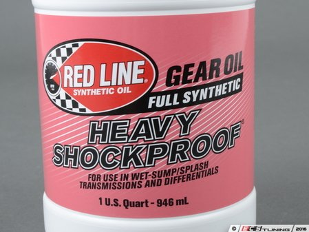 ES#2847971 - 58204 - Heavy ShockProof Gear Oil - 1 quart - GL-5+ Film thickness greater than an SAE 75W250, yet low fluid friction like 75W90. Fully synthetic gear oil. - Redline -