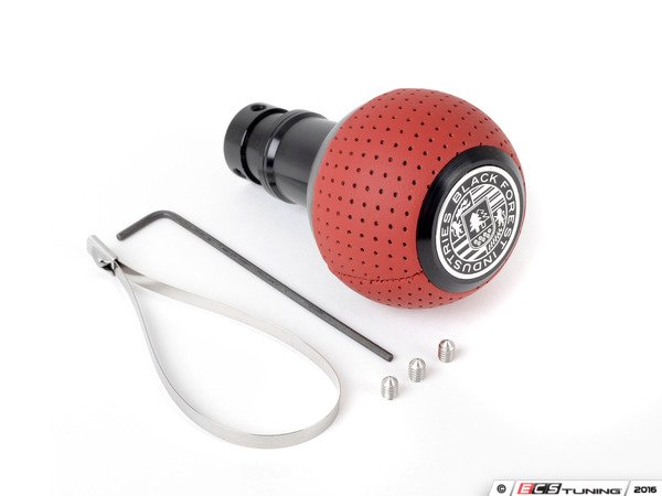 ES#3141688 - GS2DGSM - BFI Heavy Weight Shift Knob SCHWARZ - Magma Red Air Leather - Just because your car doesn't have a third pedal, doesn't mean you should be stuck with some goofy shifter. - Black Forest Industries - Audi Volkswagen