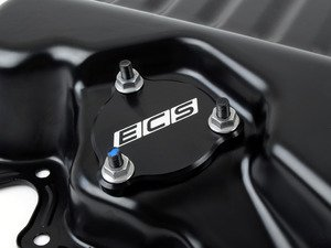 ES#3140168 - 018324ECS01A - Billet Aluminum Oil Level Sensor Blockoff Plate - The perfect compliment for oil pans that do not require an oil level sensor but have provisions of - ECS - Audi Volkswagen