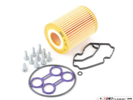 ES#2795805 - 6421840080KT4 - Oil Cooler Seal Kit - Level 2 - Includes all seals and hardware required to reseal your oil cooler - Includes oil filter - Assembled By ECS - Mercedes Benz