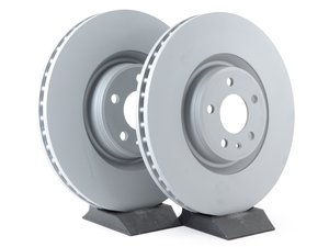 ES#3147653 - 4g0615301kKT2 - Front Brake Rotors - Pair (356x34mm) - Bring your brakes back to life - Zimmermann - Audi