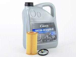 ES#3142183 - CRTDIECOKT -  Economy Oil Service Kit - Only the essentials to perform an oil service. Includes German Made Vaico oil that meets VW 504.00 & 507.00 standards - Assembled By ECS - Volkswagen