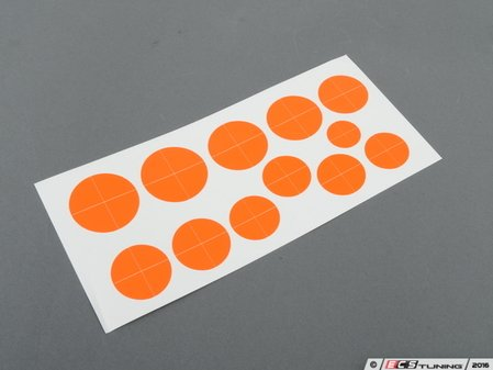 ES#3025176 - RDFO - Roundel Overlay - Fluorescent Orange - (NO LONGER AVAILABLE) - Includes enough overlays for hood, trunk and wheel roundels! - Turner Motorsport -