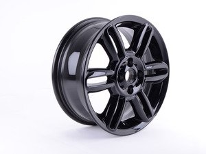 """ES#3148903 - 36116856969sd - R119 Alloy 6 Star Twin Spoke Wheel 16"""" (4x100) Black - Priced Each *Scratch And Dent* - (NO LONGER AVAILABLE) - 16 X 6.5 ET:48 - Genuine MINI -"""