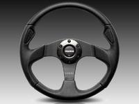 ES#3135801 - JET32BK0B - MOMO Jet Steering Wheel - 320mm  - Customize your driving experience with this fine leather steering wheel - MOMO - Audi BMW Volkswagen Mercedes Benz MINI Porsche