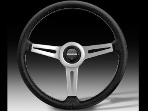 ES#3032783 - RET36BK2S - MOMO Retro Steering Wheel - 360mm - Customize your driving experience with this fine leather steering wheel - MOMO - Audi BMW Volkswagen Mercedes Benz MINI Porsche