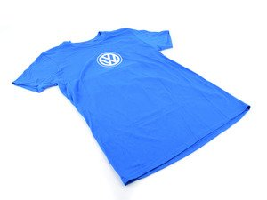 "ES#3012476 - DRG013812RYLMD - ""Everyday"" T-shirt - Medium - 100% cotton t-shirt with printed VW logo in a Royal Blue color. - Genuine Volkswagen Audi - Volkswagen"