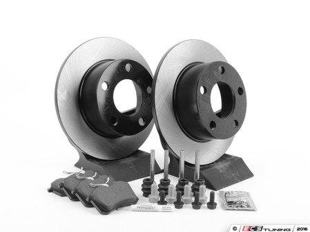 ES#1899341 - 8e0698019 - Rear Brake Service Kit - Includes OP Parts Rotors & Mintex pads - Assembled By ECS - Volkswagen