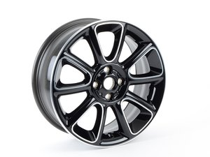 "ES#2578726 - 36116850504 - R132 MINI Sandblast Turned Wheel 17"" (4x100) Black (Bayswater edition) - Priced Each - 17 x 7J ET:48 - Genuine MINI - MINI"