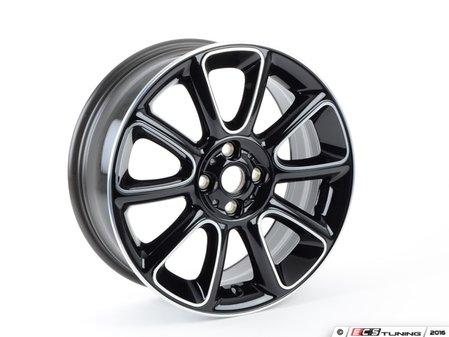 "ES#2578726 - 36116850504 - R132 MINI Sandblast Turned Wheel 17"" (4x100) Black (Bayswater edition) - Priced Each - 17 x 7J ET:48 - Genuine MINI - MINI"